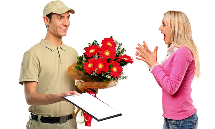 Παράδοση λουλουδιών
